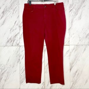 3/$60 Style & Co Berry Colored Denim Jeans SZ 16S